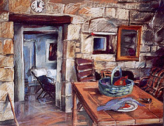 """Kuchnia w Gigny"",  pastel"