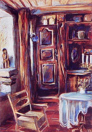 """Dom w Mirabel"", pastel"