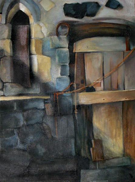 """""""Podwórze w Mirabel"""", obraz olejny"""