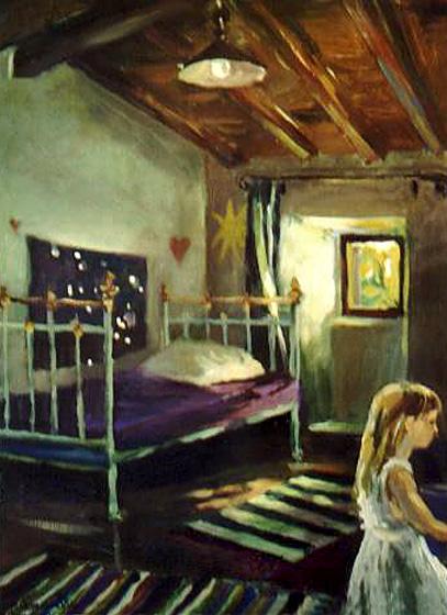 """""""W dziecinnym pokoju"""", obraz olejny"""