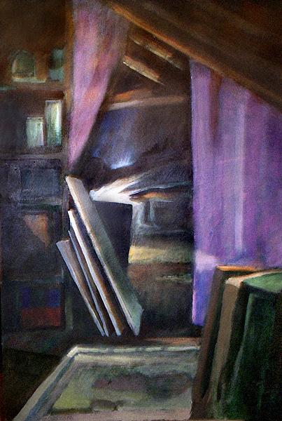 """""""Strych u Alicji"""", obraz olejny"""